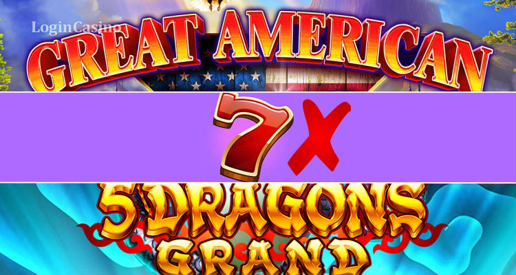 Slot Novelties Review: Great American Wilds, 7X Seven Times Pay and 5 Dragons Grand
